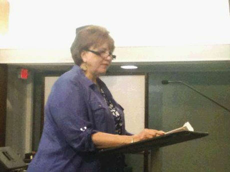 Charis Beal led a meeting of the Oak Ridge Concerned Citizens Tuesday at Oak Ridge Reformed Baptist Church.