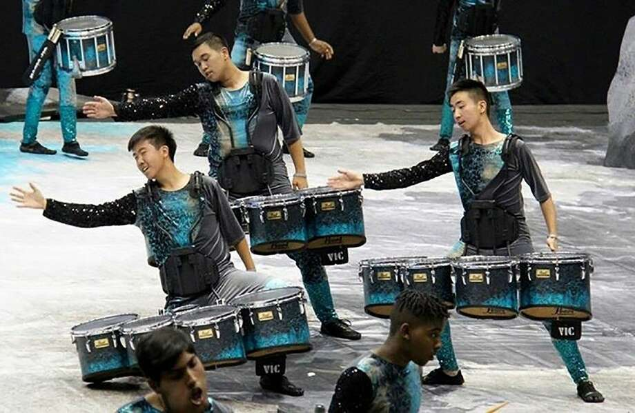 Members of the Cy-Fair High School drumline compete in the WGI World Percussion Championships, held April 14-17 in Dayton, Ohio.