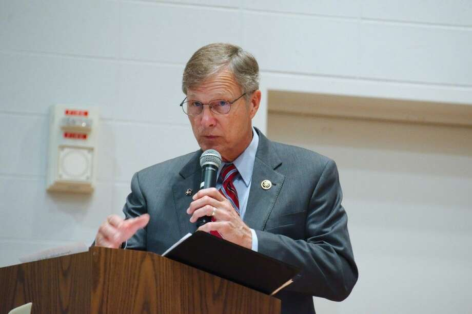 U.S. Representative Brian Babin during a meeting on Human Smuggling and Trafficking Tuesday, Aug. 18.