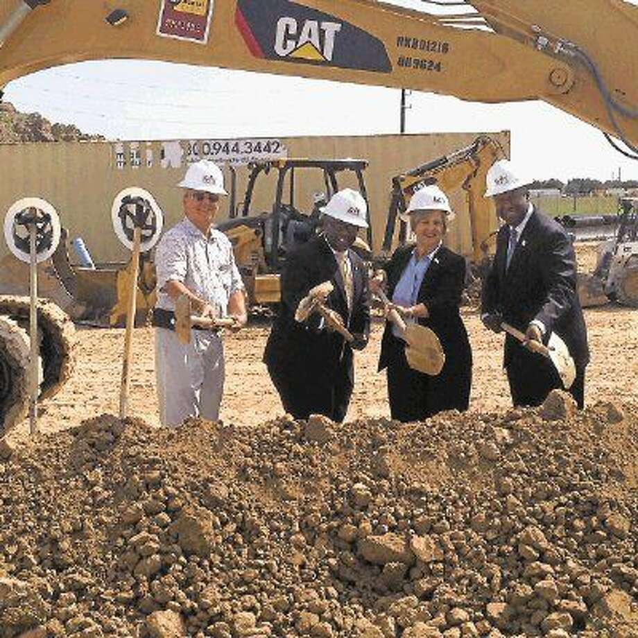 Katy ISD Superintendent Alton Frailey is joined by members of the KISD Board of Trustees at the June 9 groundbreaking of Elementary No. 38. It is one of six new schools approved by the 2014 bond referendum.