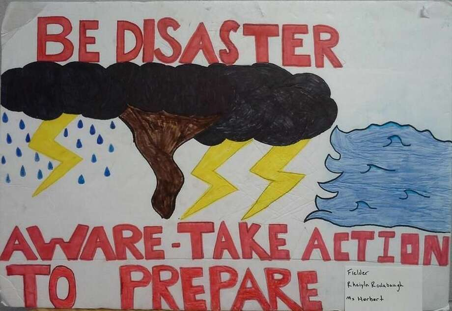 Shown here is one of the winning posters from students who participated in a Katy ISD weather awareness week contest from Feb. 29-March 5.