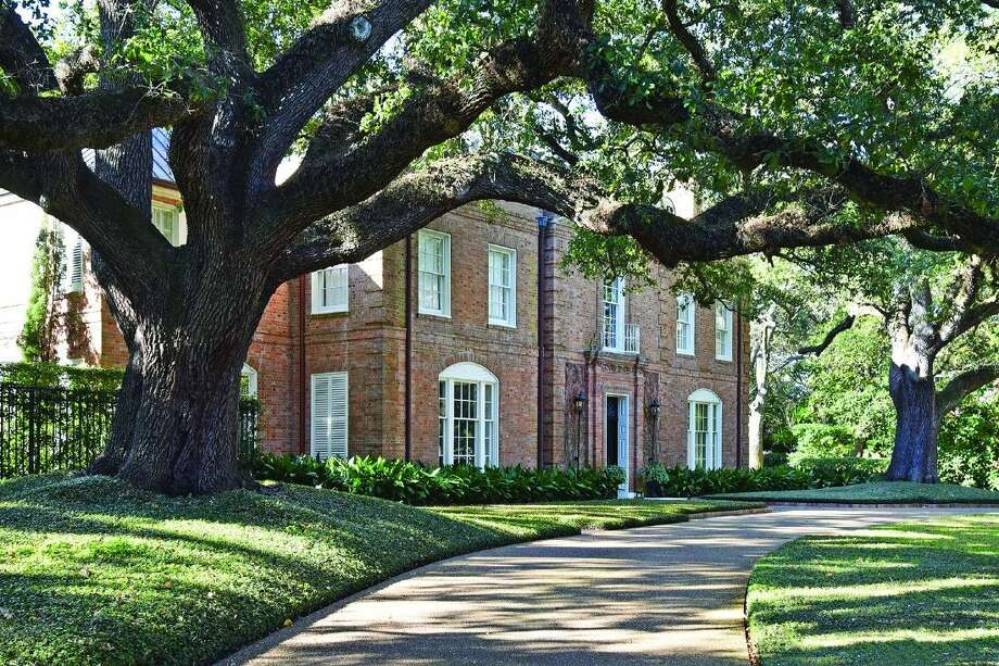 This elegant home at 3229 Groveland Lane in River Oaks is among the five historic houses welcoming visitors during Preservation Houston's Good Brick Tour on Saturday, April 30 and Sunday, May 1.