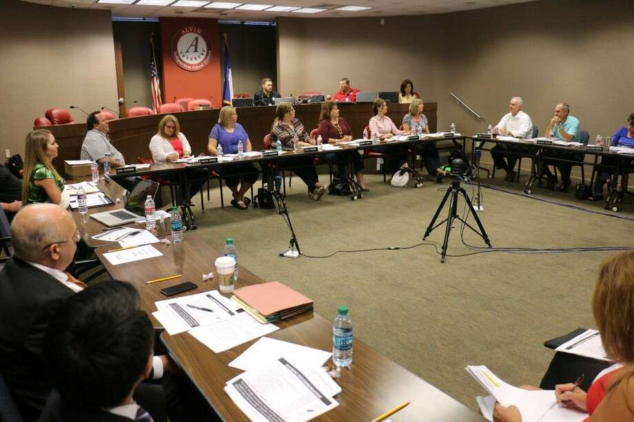 At an August18 Board Workshop, the Alvin ISD Board of Trustees approved a school bond election order in the amount of 245,000,000. The Board approved the 2015 Bond Package based on the recommendation of the Citizens' Advisory Committee, consisting of community members, elected officials, business leaders, and parents. Board members are pictured with other district leaders, including Superintendent of Schools, Dr. Buck Gilcrease, as they approved the upcoming bond election.