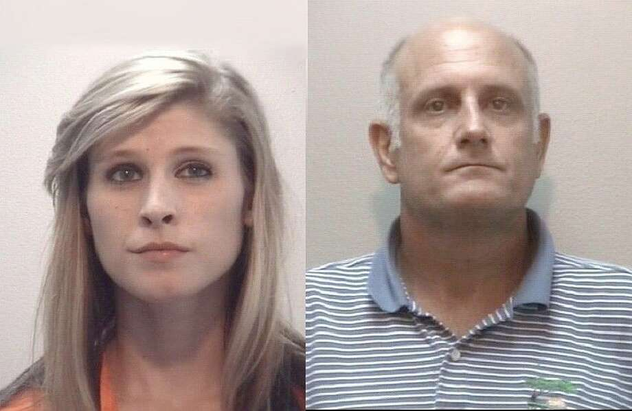 Photo by Webster Police Dept.Brittany Nicole Castille, 18, of Pasadena (left) and Pearland-resident Donald Wayne Cunningham, 48, (right) were arrested outside a Webster hotel on felony drug-related charges on Sept.2. Photo: Webster Police Dept.