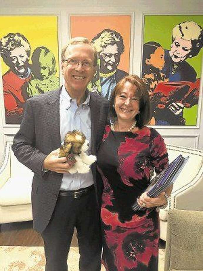 Children's author Grace Birch was in town last week to visit with Neil Bush and to promote her newest book, The Adventures of Otto Von Schnoodle. A portion of the proceeds from the book are being donated to the Barbara Bush Houston Literacy Foundation.