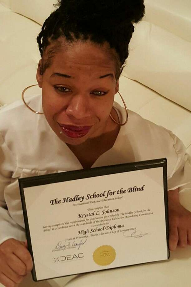 Through all of the trials and tribulations of Krystal Johnson's life, her most recent accomplishment — earning her high school diploma — is one she is most proud of.