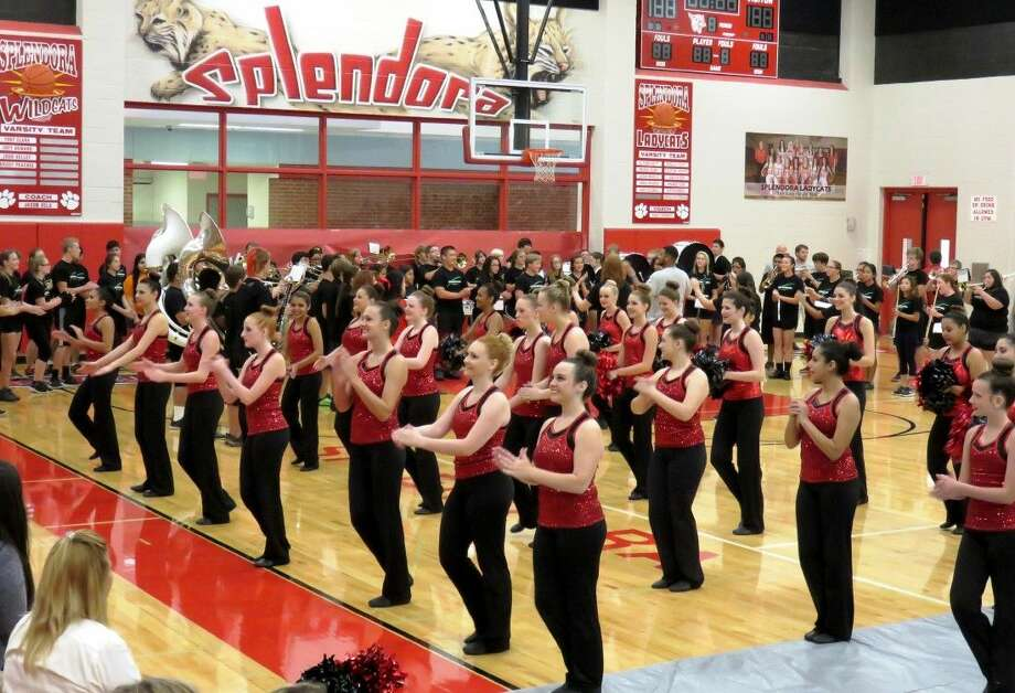 The Splendora ISD Drill Team performed a routine during the Aug. 17 convocation ceremony, which marked the beginning of the new school year. Photo: Stephanie Buckner
