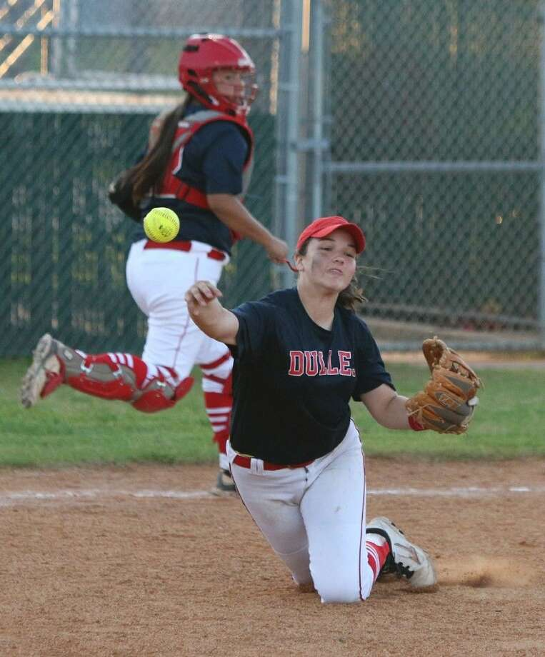 Sarah Metzer and Dulles won the first district championship in school history this season. The Lady Vikings open postseason play against Dickinson. Photo: HCN File Photo