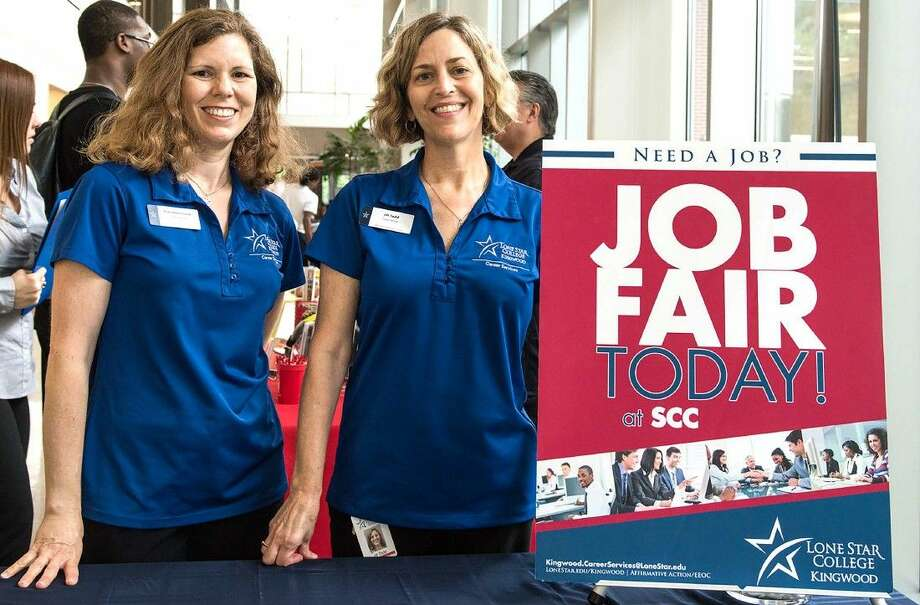 Kim Hammond, career services employment specialist, and Jill Todd, career counseling manager, are organizing the Community Job Fair at LSC-Kingwood. The fair is on May 18 from 2-4 p.m. in the Student Conference Center.