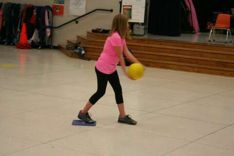 dcf04e4df Elm Grove Elementary students hone their kickball skills and show their  teachers how it s done in