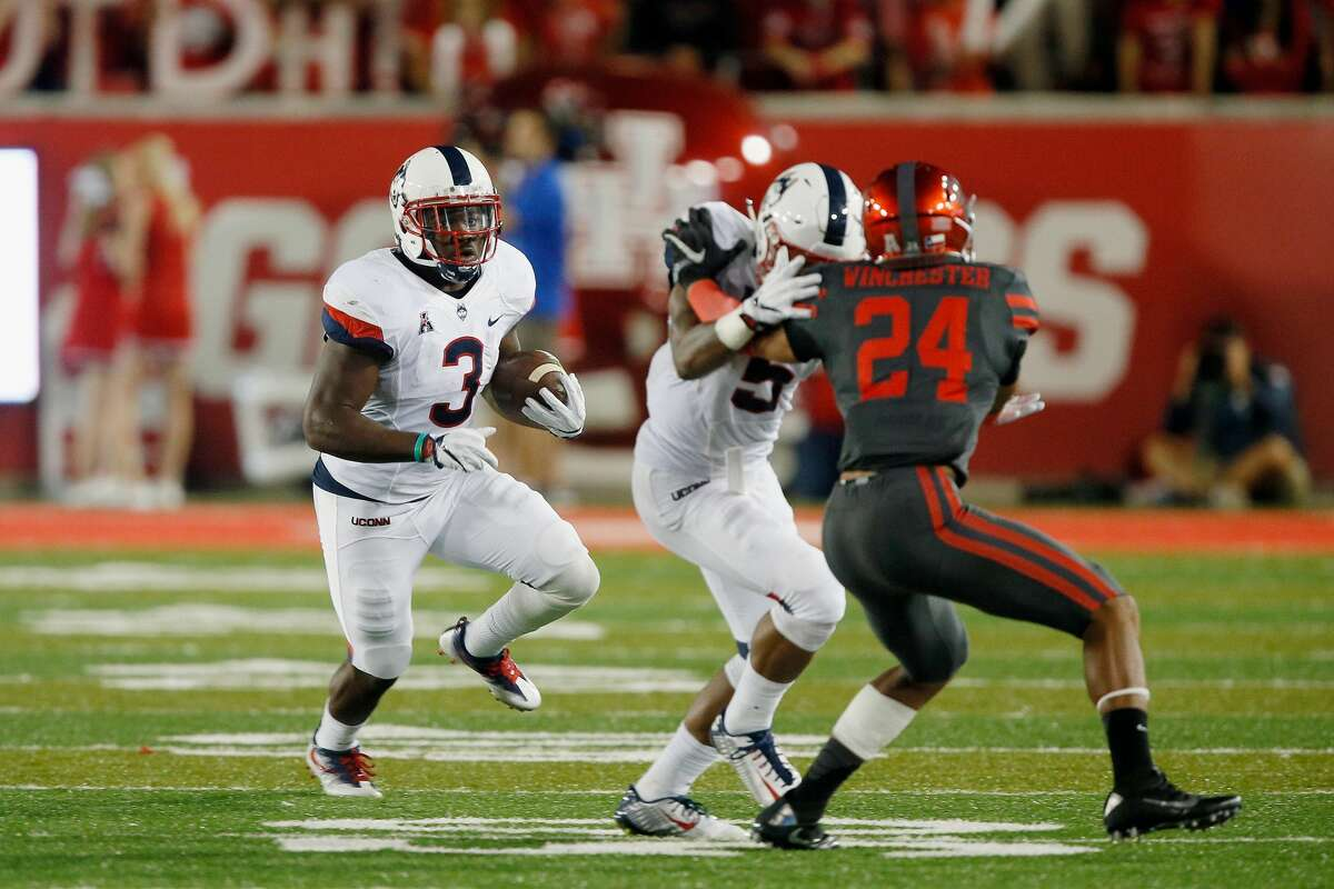 10. Connecticut (2-3, 0-2 AAC) The Huskies added a blowout loss to their resume last week, 42-14, at Houston. UConn allowed 28 points in the second quarter alone, more than it has scored in an entire game this season. The UConn running game got next to nowhere on the nation's top rushing defense and Noel Thomas, now sixth in the nation with 46 receptions, was the lone offensive bright spot. Defensively, UConn continues to have problems defending the pass. One has to start wondering what positive can become of this season without a victory Saturday at home against Cincinnati, which has defeated UConn five games in a row and leads the series 10-2. - Mike Anthony, The Hartford Courant
