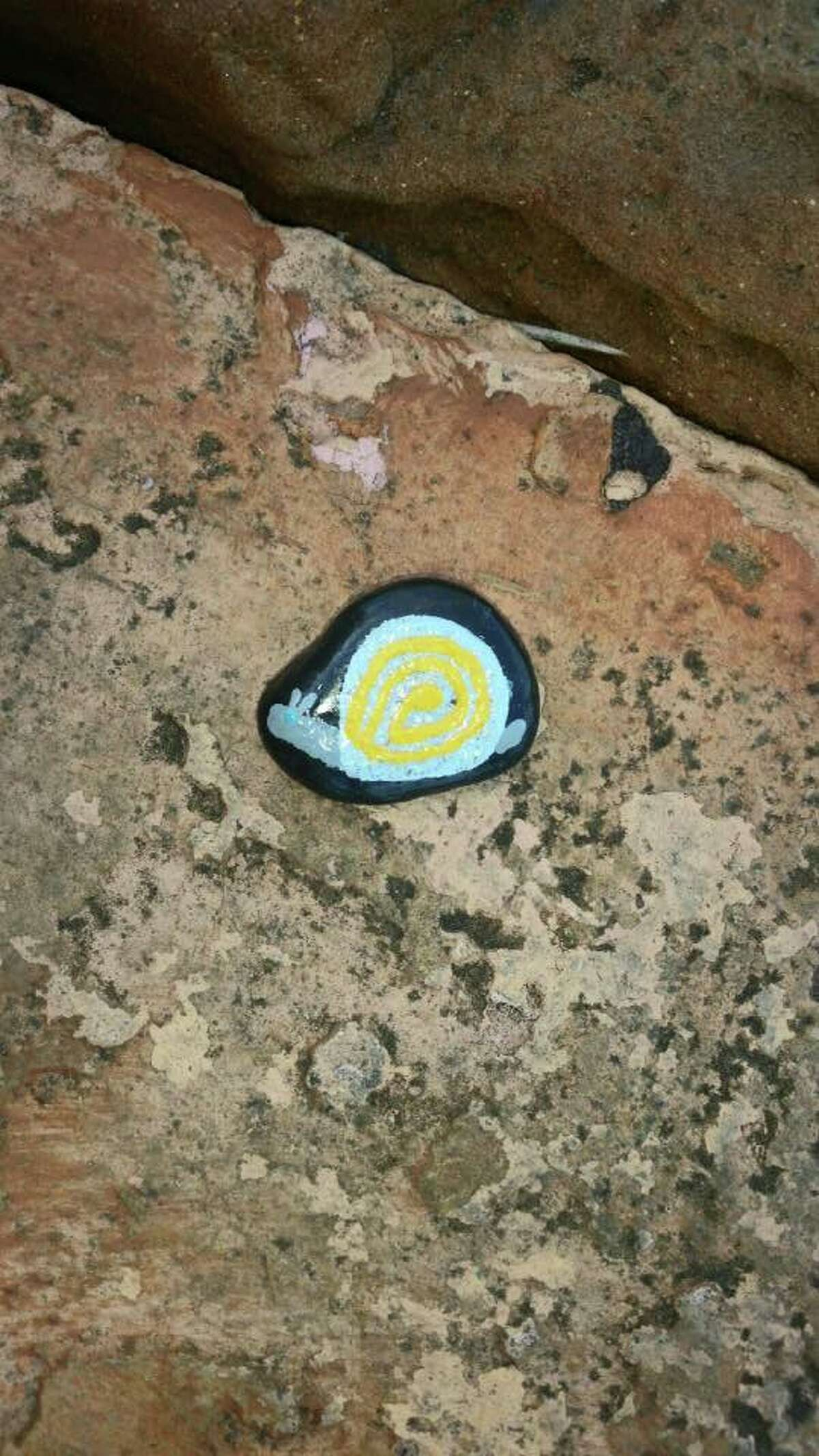 Using clues and photos posted to the 'Vidor Rocks' Facebook group, residents search for painted rocks - some of which boast creative designs - throughout the community. The Facebook group has more than 2,000 members.
