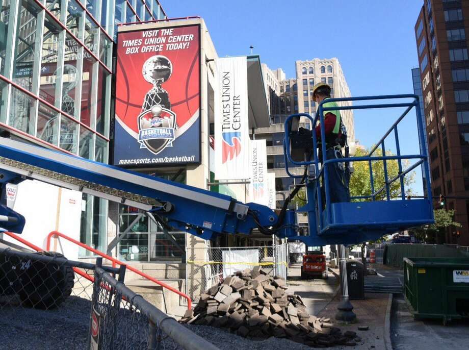Work was scheduled to begin Wednesday on the expanded atrium at the Times Union Center in Albany, N.Y. (John Carl D'Annibale / Times Union)