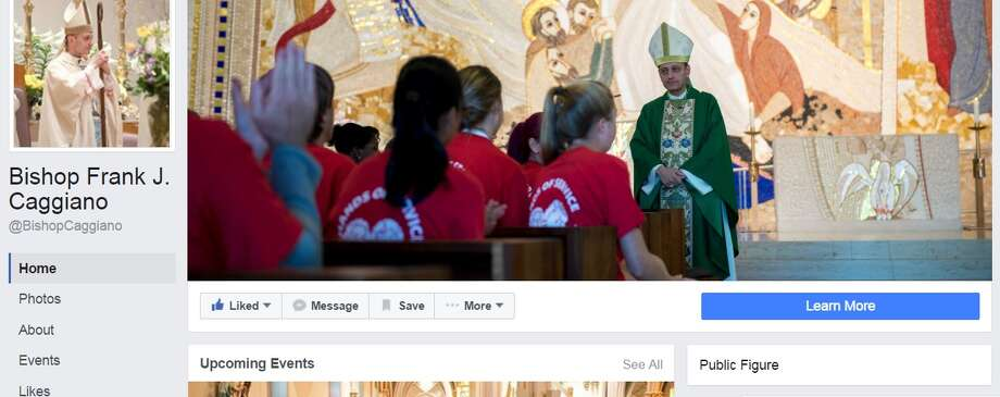 Bishop Frank J. Caggiano's (real) Facebook page Photo: Via Facebook