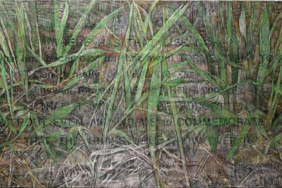"Lydia Bodnar-Balahutrak's ""Will The Grass Grow Over It"" is among works in her solo show ""Discourse"" at Galveston Art Center Oct. 8-Nov. 20."
