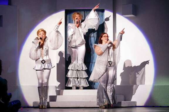 "DO NOT USE. WE MUST CONTACT THE PHOTOGRAPHER TO NEGOTIATE A FEE.  The farewell tour of ""Mamma Mia!"" will be part of the Tobin Center for the Performing Arts' 2016-'17 Signature subscription season."