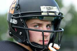 Mohonasen senior QB Ryan Deguire during practice on Thursday Sept. 8, 2016 in Rotterdam, N.Y. (Michael P. Farrell/Times Union)
