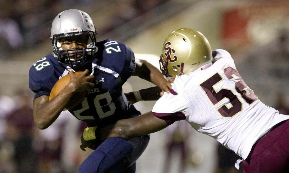College Park running back A.J. Sanders is among the county's top returning rushers. Photo: Jason Fochtman