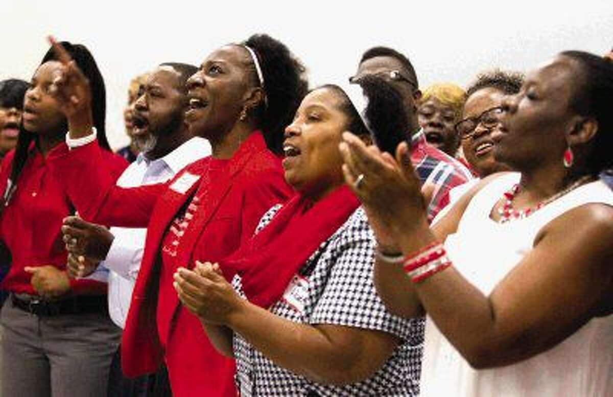 The Martin Luther King Jr. Community Choir performs during a National Day of Prayer breakfast Thursday in Montgomery. Go to HCNpics.com to purchase this photo and others like it.