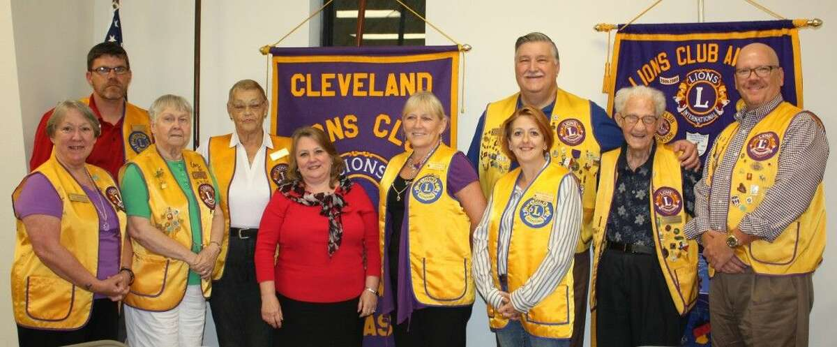 Members of the Cleveland Lions Club welcomed City Manager Kelly McDonald, who was the guest speaker on Tuesday, Aug. 25.