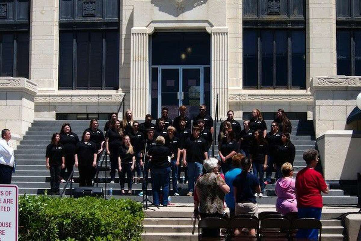 The Liberty High School choir performs