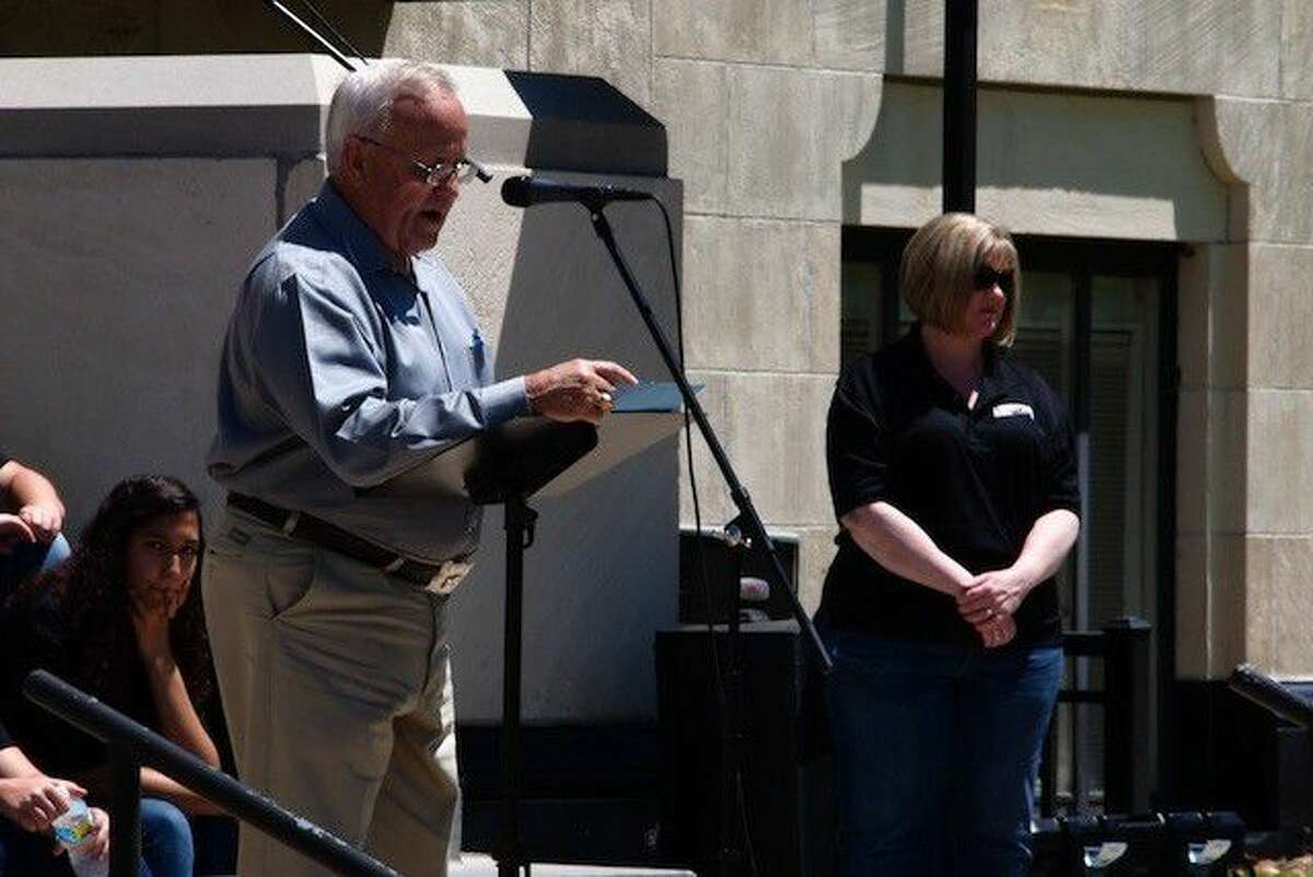 County Judge Jay Knight reads a proclamation making May 5, 2016 National Day of Prayer in Liberty County.