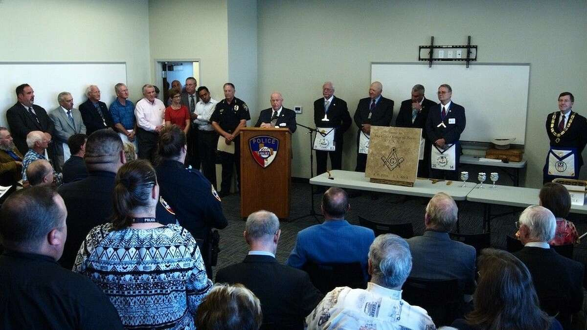 Liberty Masonic Lodge No. 48 hosted a cornerstone dedication ceremony at the new Liberty police department building on Lakeland Drive in Liberty, Texas, Saturday morning, Sept. 20.