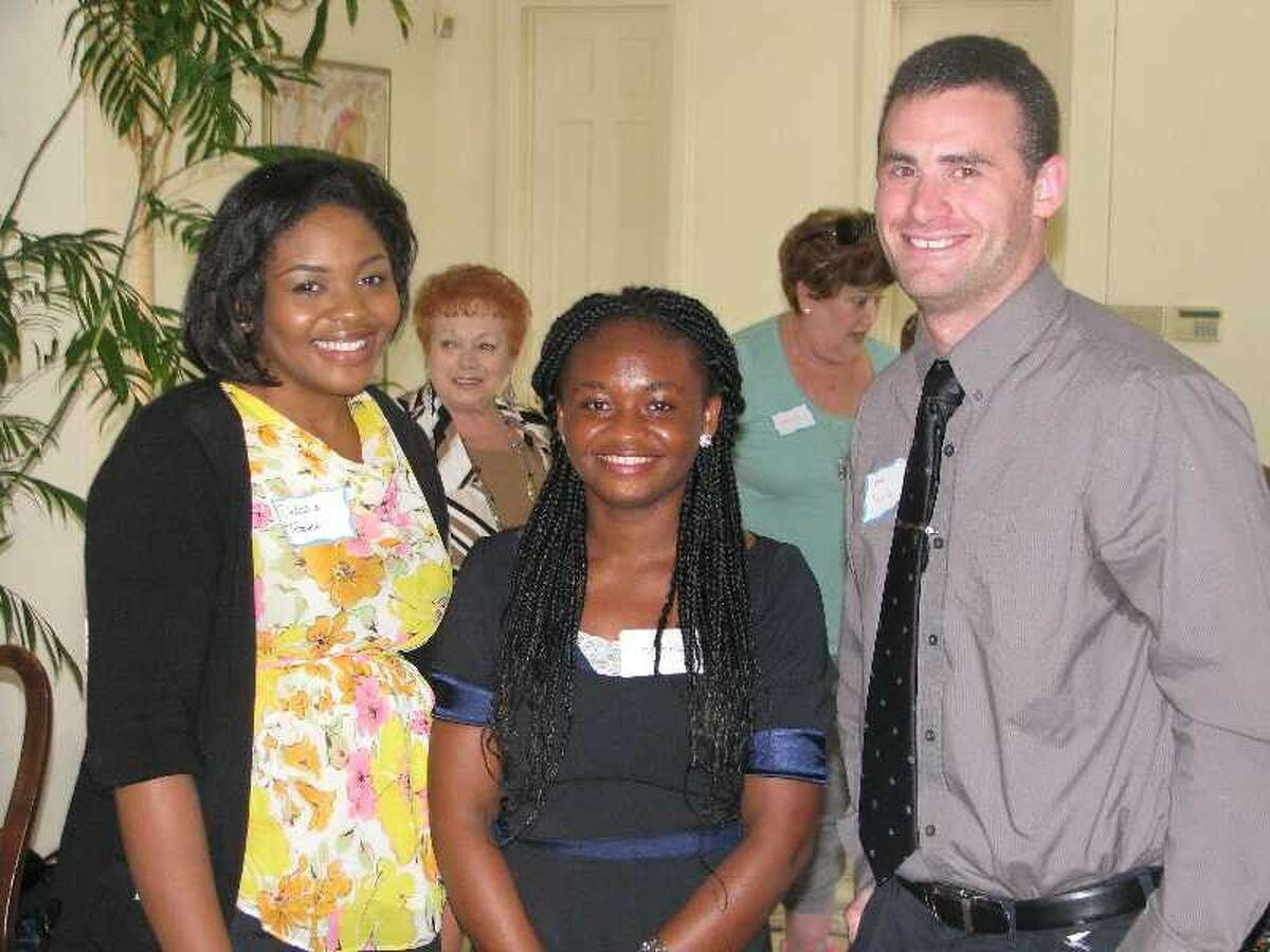 Scholarship winners from left, Dalissia Tezeno , Gladys Brown and Joshua Camins.