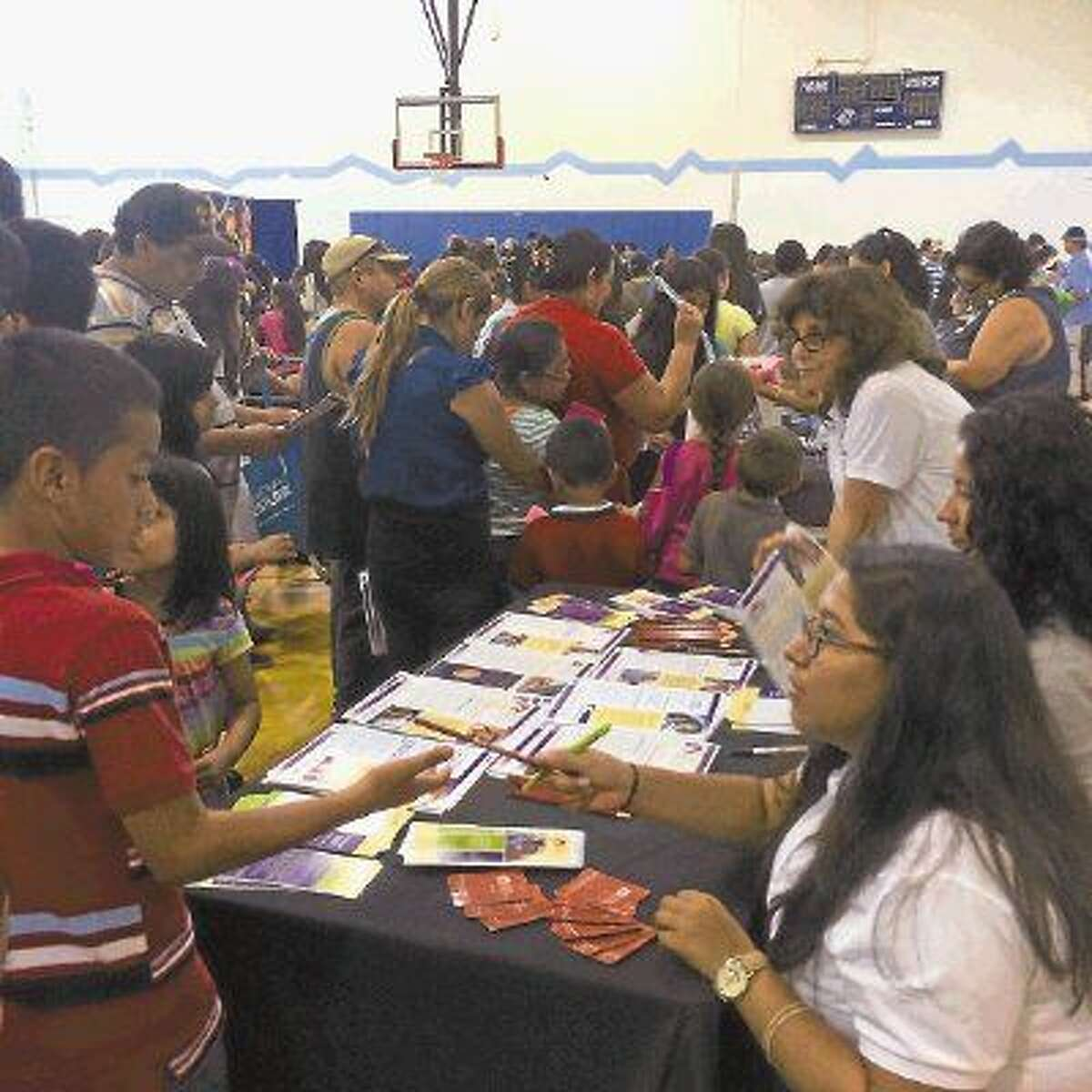 Families learned about different community services and organizations, like Family Houston, that will help them achieve success.