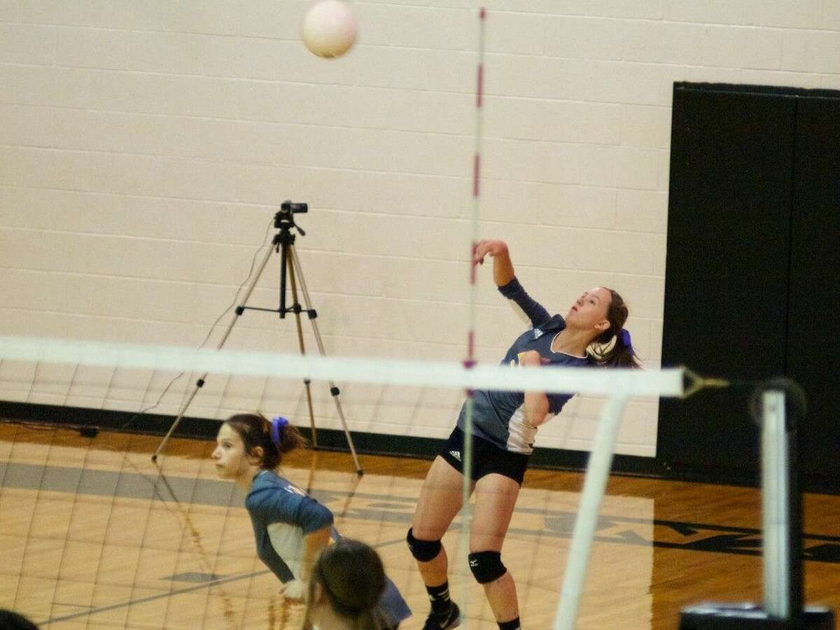 Liberty junior Megan Clawson played a strong first set against Cleveland on Friday, Sept. 19.
