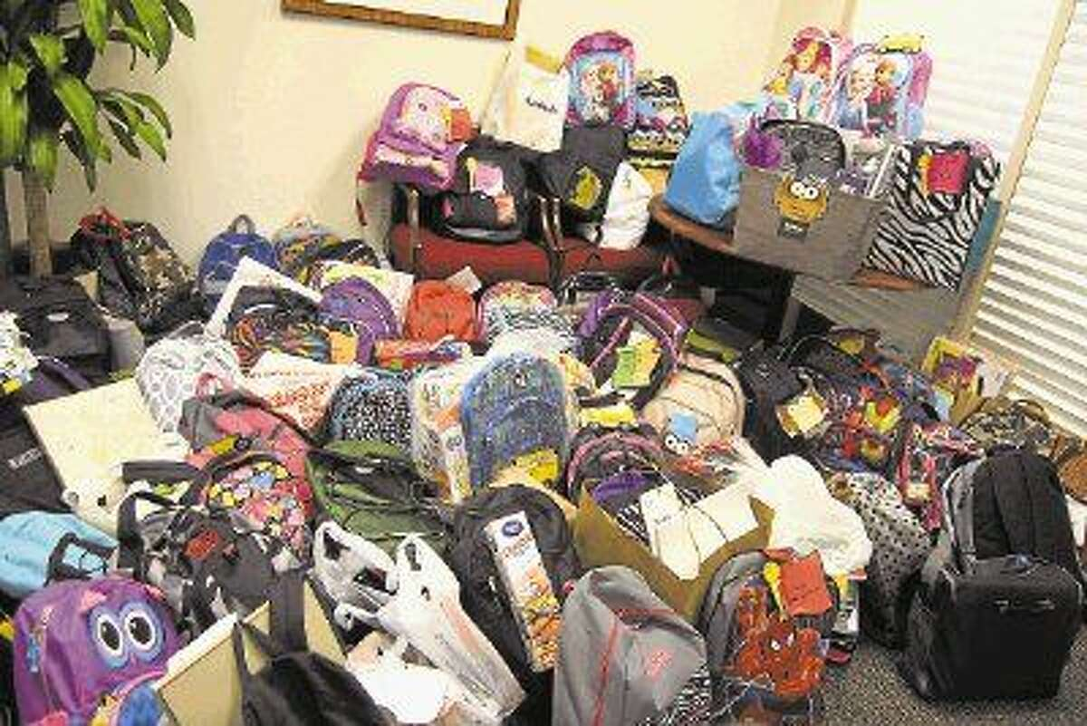 Employees of OakBend Medical Center collected almost a roomful of back to school supplies for the children of fellow employees who needed a hand in outfitting their kids for the school year.