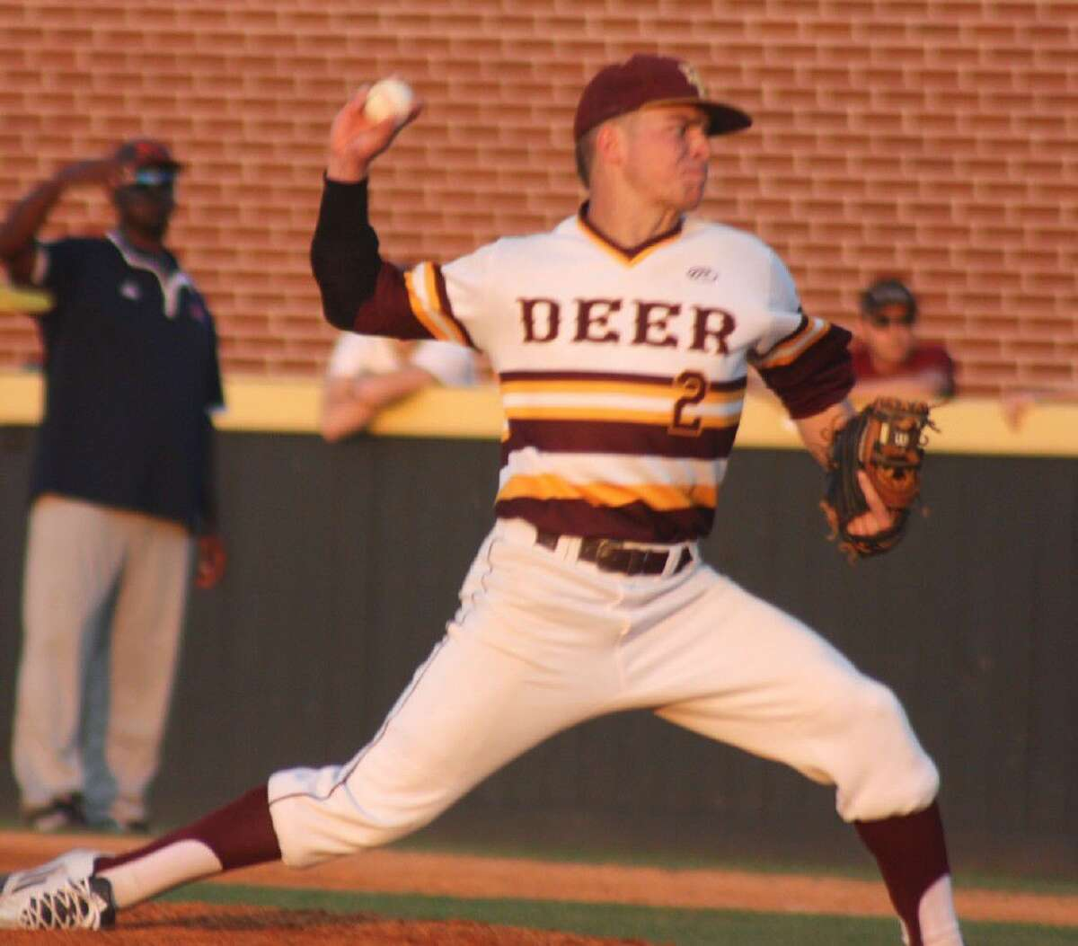 Cameron Thompson delivers a pitch to the plate during the fourth inning as he toyed with a perfect game Friday night.