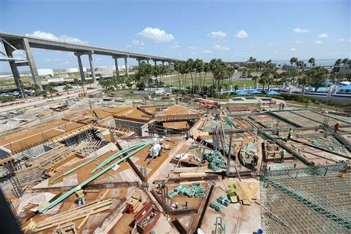 Work continues on the Caribbean Journey expansion at the Texas State Aquarium on Tuesday in Corpus Christi. The 50 million expansion is expected to open in Spring 2017.