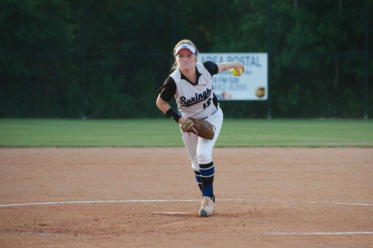 Clear Springs' Kelly Maxwell (18) pitched a complete game against Pearland, striking out nine.