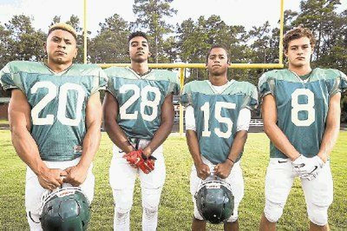 The Woodlands' Antoine Winfield Jr., Talon Baskin, AJ Mason and Mitchell Bell all look to play major roles this year for the Highlanders.