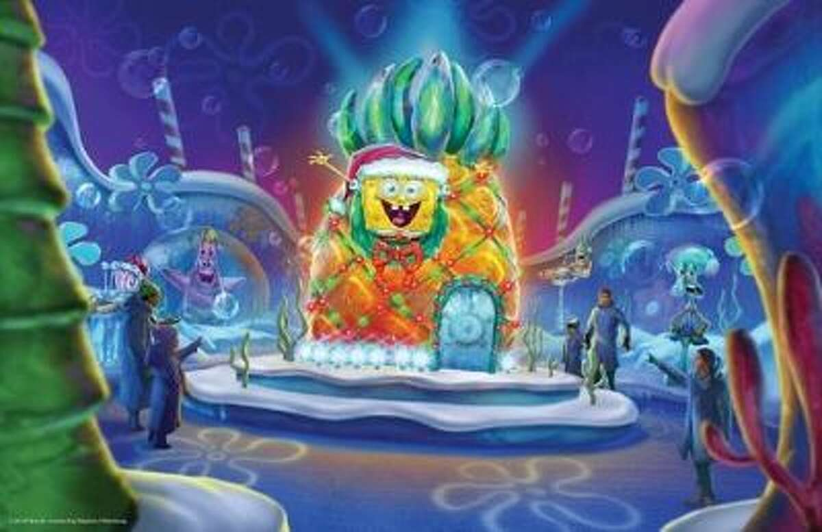 Moody Gardens and Nickelodeon reveal first glimpse at ICE LAND: Ice Sculptures with SpongeBob SquarePants. Master ice carvers from Harbin, China will create towering ice sculptures from 900 tons of ice to open Nov.15 in Galveston, Texas.