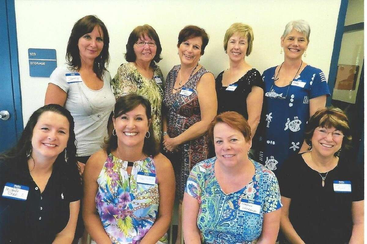 New Members: left to right, back row: Tammy Nigro, Debbie Colwell, Sandy Bocek, Barbara Mitchell, and Cindy Anderson. Front row, left to right: Michelle Star, Flo Harkins, Mary Ann Luczkowski and Chris Rickert.