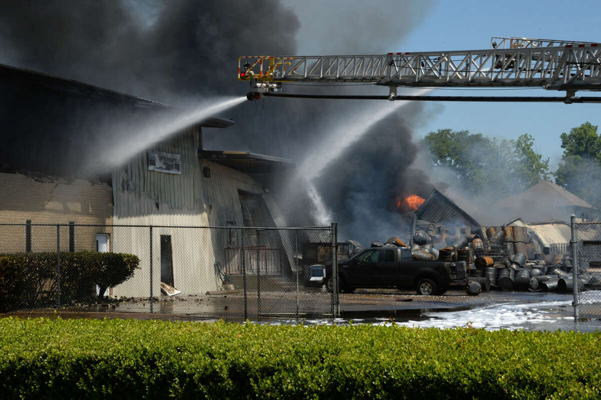Preliminary reports are the warehouse caught fire from a house fire adjacent to the facility. More than 170 firefighters responded to the blazing inferno.