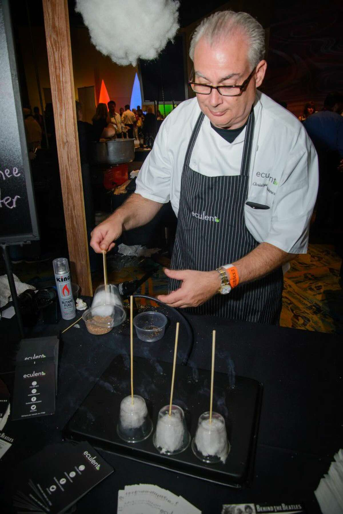 Guests sample delectable cuisine and hundreds of wines as chefs representing more than 60 of the nation's top restaurants compete for Wine & Food Week's Waterford Crystal Chef of Chefs Award and a 5,000 cash and prize package on June 11 at The Woodlands Marriott Waterway