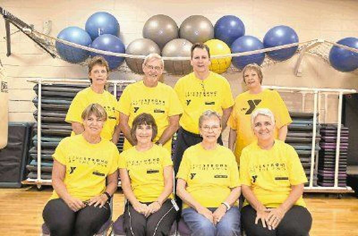 Survivors and staff of the South Montgomery County YMCA's LiveStrong program gather for a group photo. The 12-week program for cancer survivors and their caregivers begins Sept. 14 at the Shadowbend YMCA. Pictured from left are: (back row) Connie Mahaffey, Thomas McWillie, Doug Callon and Ursula Kuttle and Karen Veit; (front row) Donna McWillie, Mary Anne Frost, Pat Rolfe and Karen Veit.