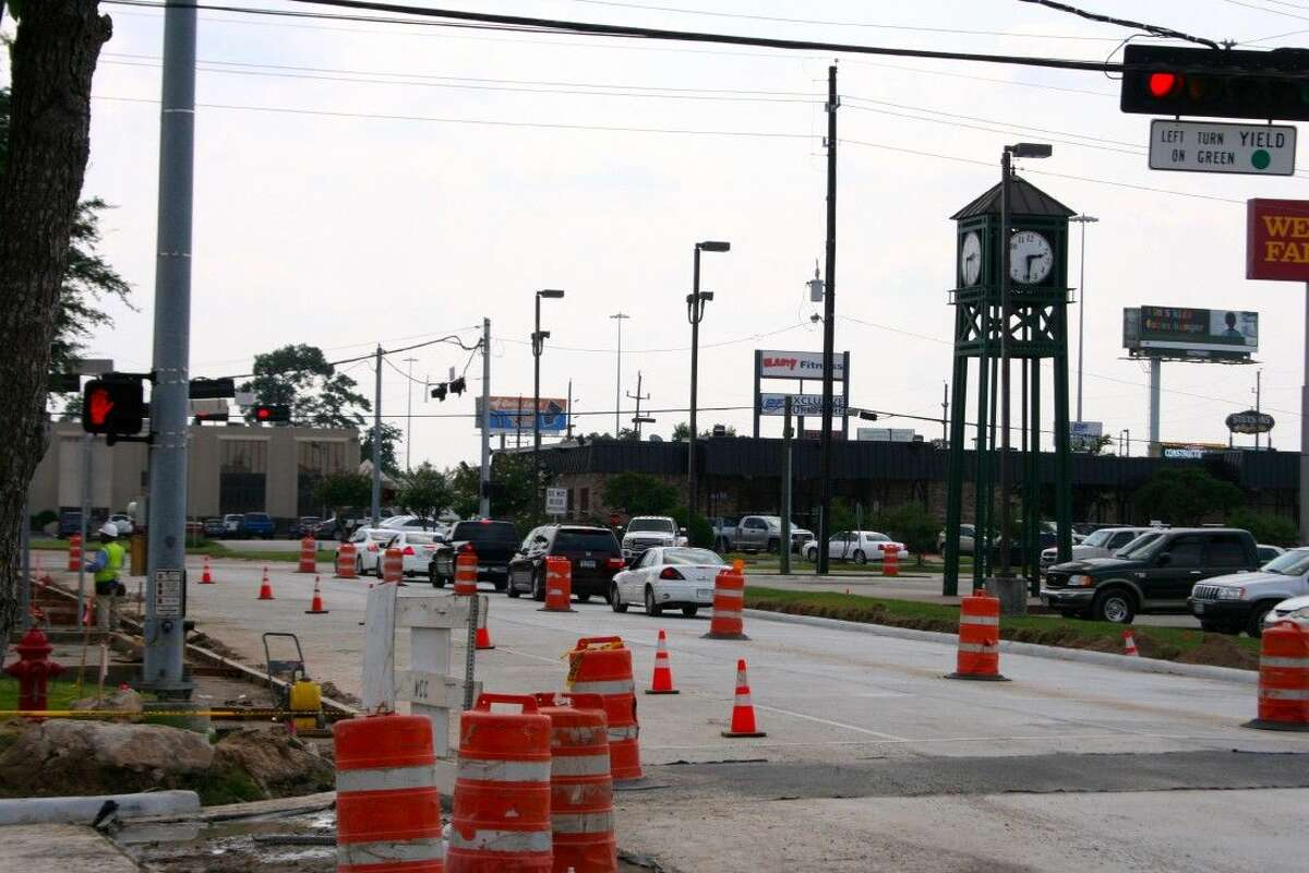 Bender Avenue, from Main Street to First Street in downtown Humble, has been reopened to through traffic after several weeks of closure.