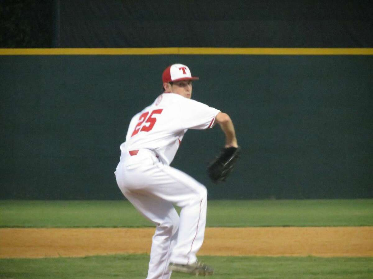 St. Thomas starting pitcher Matthew Ashbaugh collected five strikeouts in four innings to lead the Eagles.