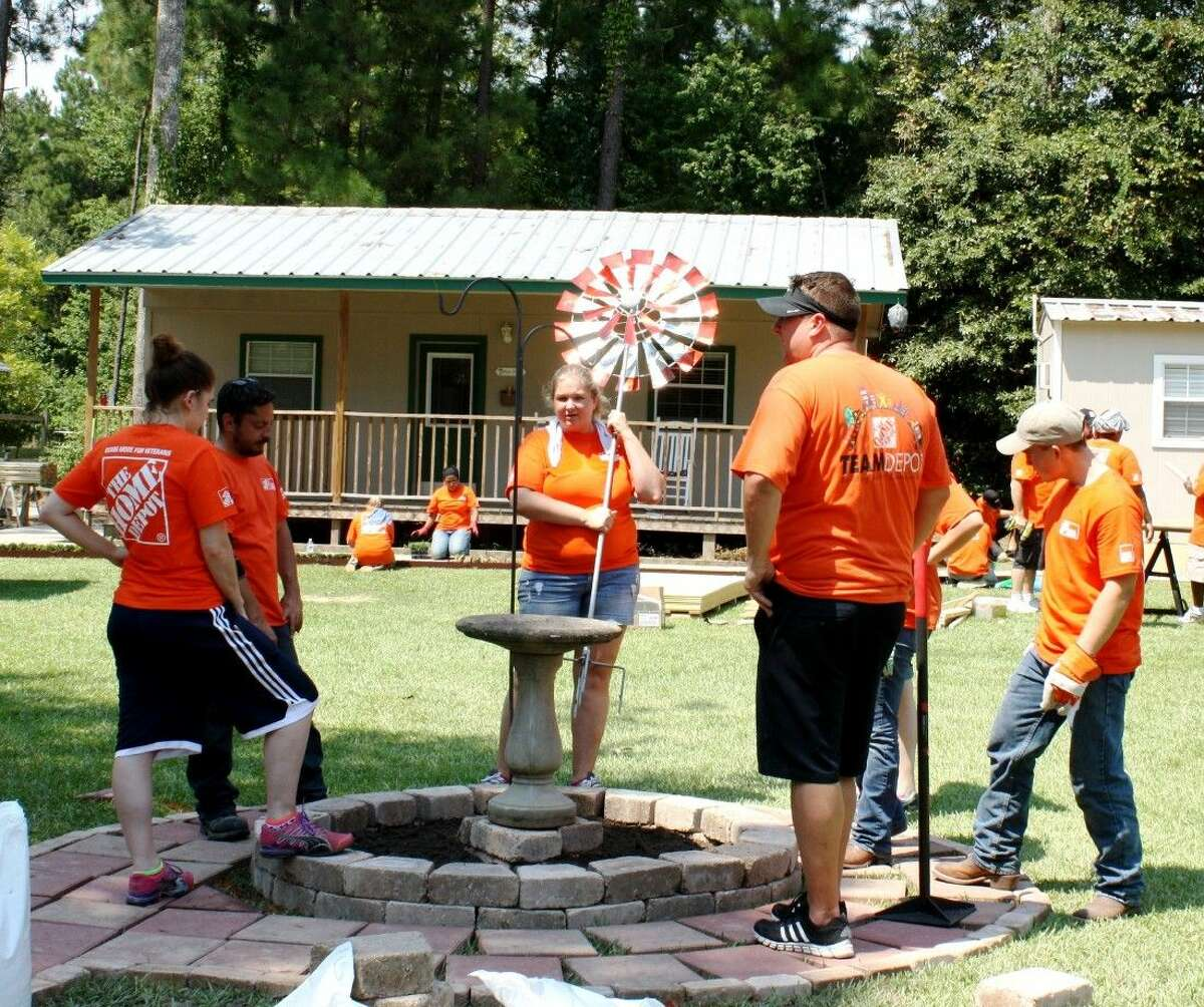 More than 40 volunteers from local Home Depot locations participated in a makeover event for Splendora-based nonprofit Hope Cancer Retreat on Aug. 27.