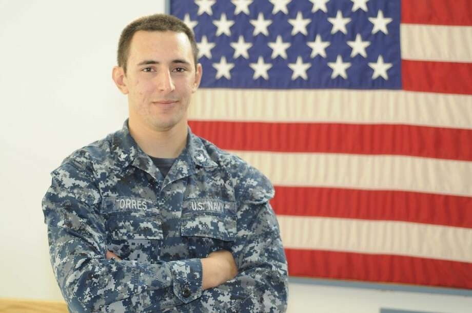 Petty Officer 3rd Class Juan C. Torres is a machinist's mate aboard the Zumwalt. Photo: Submitted Photo