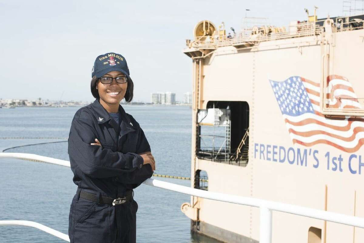 Petty Officer 3rd Class Ashley Ferguson is a yeoman aboard the Arleigh Burke-class guided missile destroyer operating out of San Diego, California.
