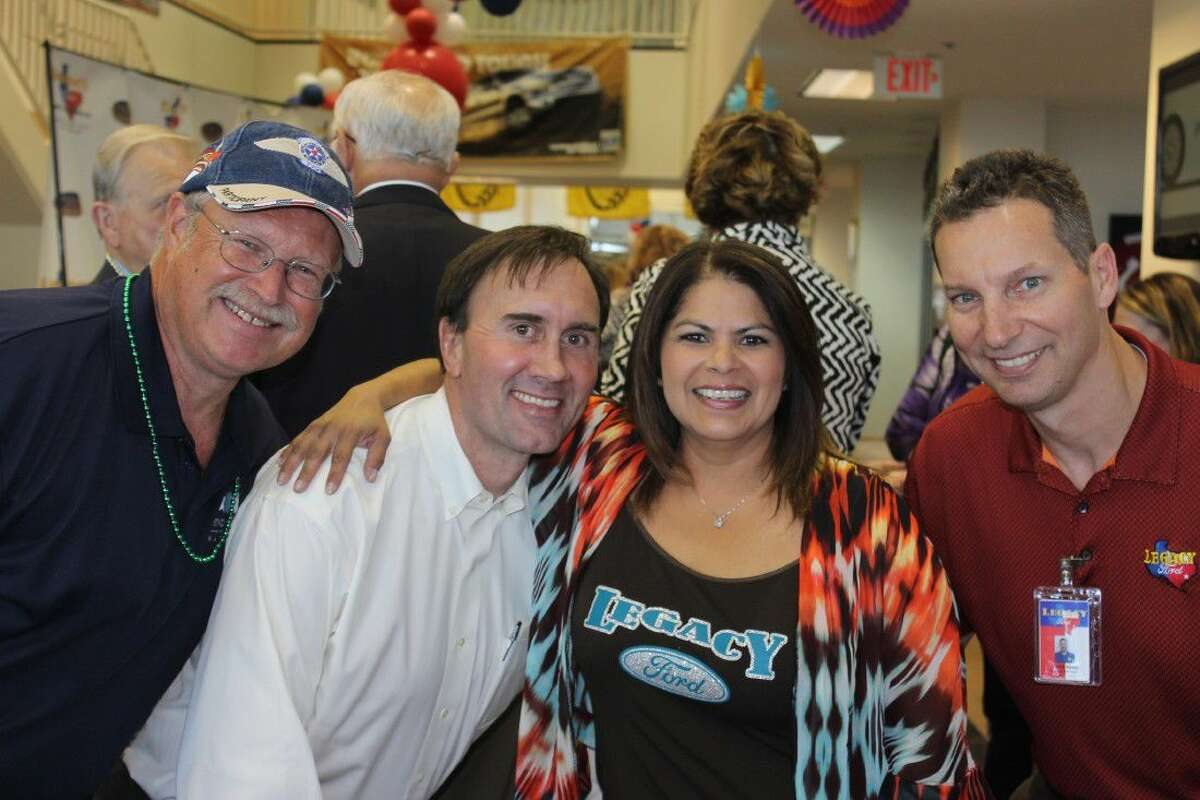 U.S. Congressman Pete Olson, Eloise Lucas and Patrick Sexton of Legacy Ford.