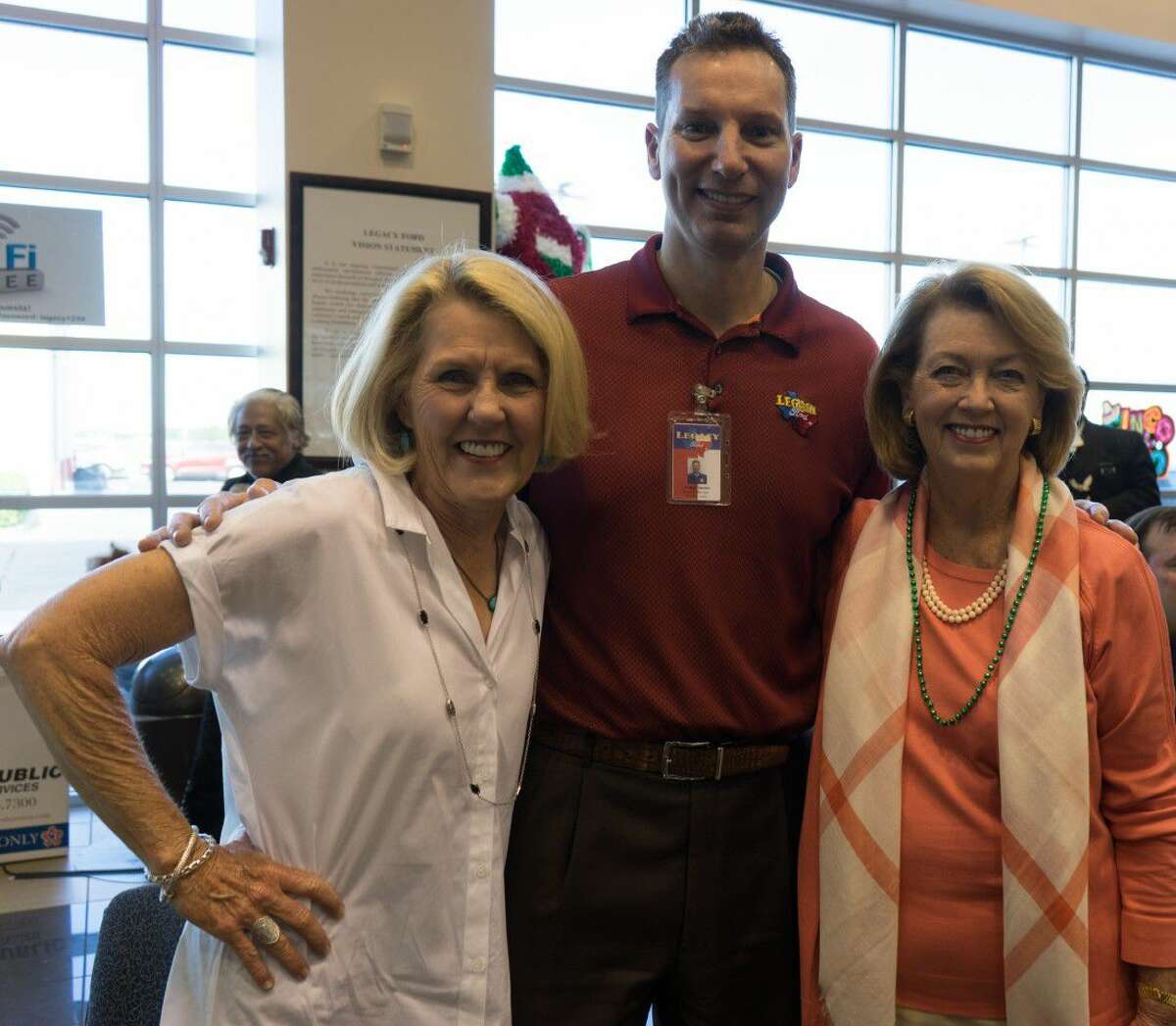 Kay Beard, Patrick Sexton of Legacy Ford and Mayor Evalyn Moore from the city of Richmond