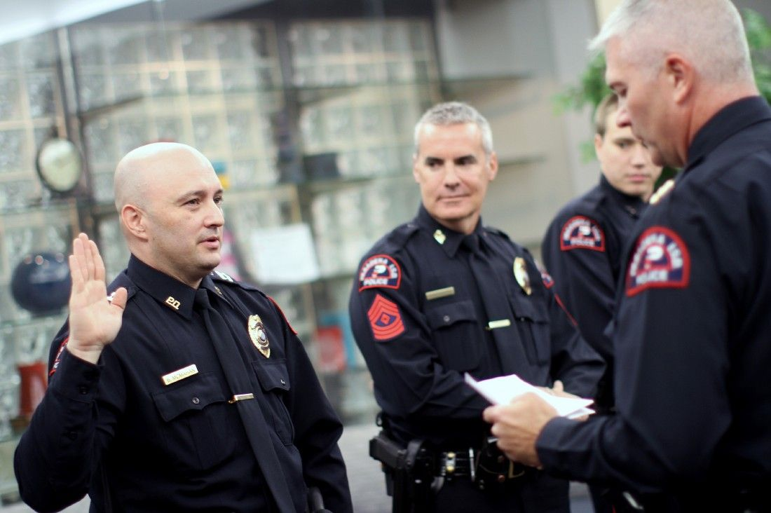 pasadena isd police dept  promotes two  swears in five