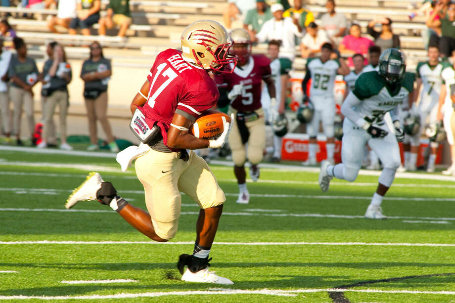 Tre' Hart and the Cy Woods Wildcats are perfect in district play. They sit at No. 3 in the rankings this week. Photo: Tony Gaines/HCN