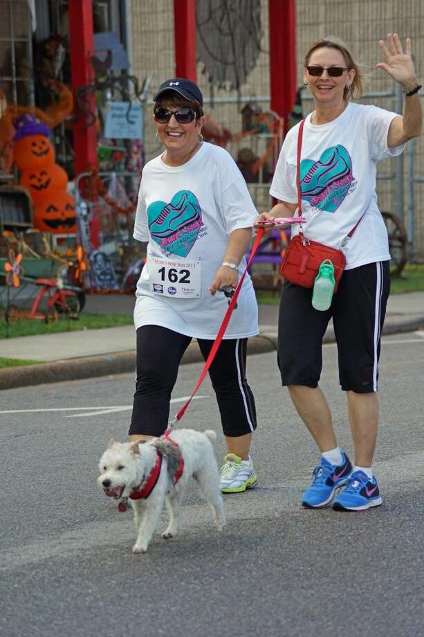 "Marietta Walicki, left, and Dorothy Dodson at the 2013 ""Sherine's Stride"" for breast cancer awareness. Marietta Walicki lost her fight with breast cancer earlier this year. This year's event will celebrate her life, as well as the life of Sherine Amanollahi's. Photo: Submitted"